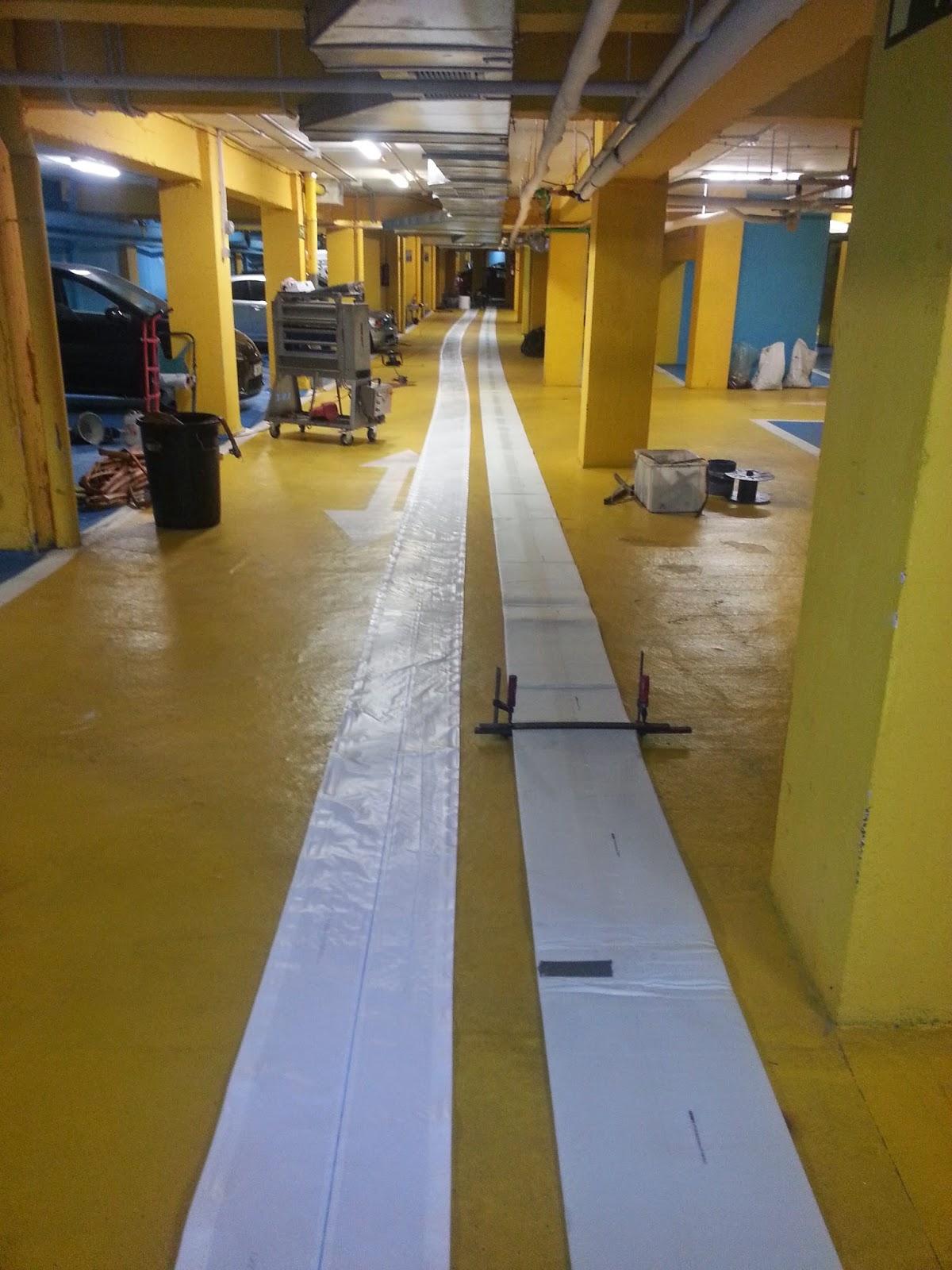Rehabilitación con manga de 300 m.m. diámetro