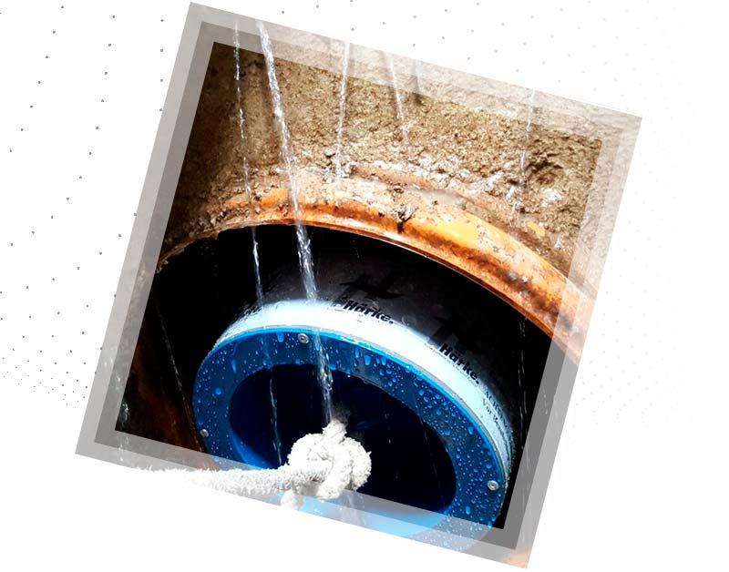 Prueba de estanqueidad en redes de saneamiento