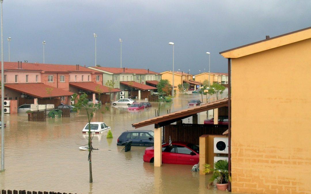 inundación en casa